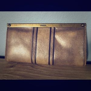 Fossil Wallet Taupe Leather